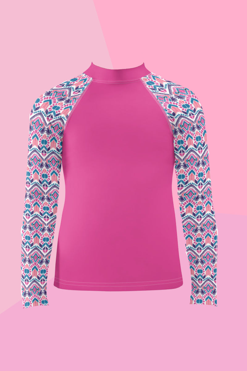 Kids Seaforth Pink Rash Guard