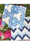 Trellis Blue Fabric