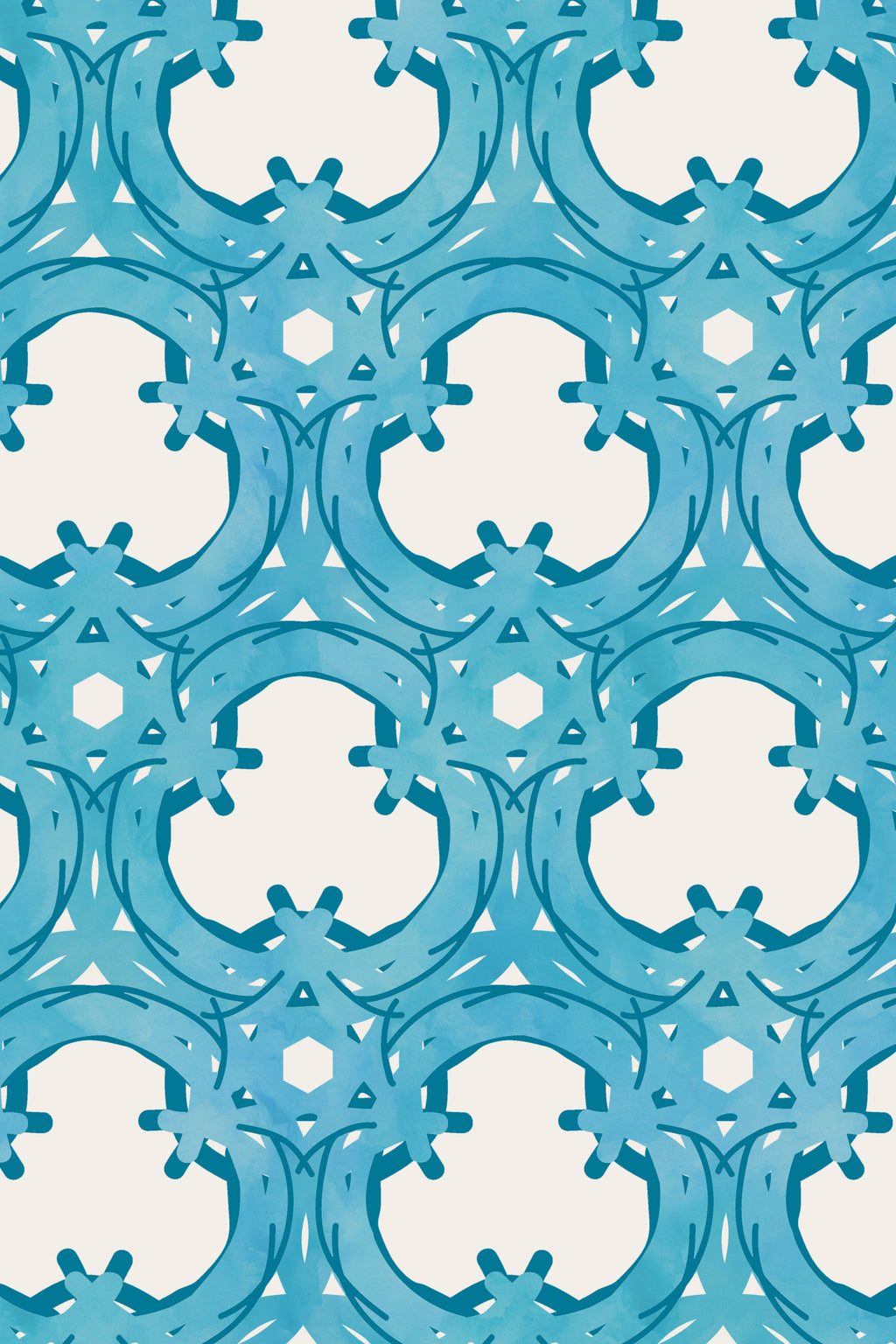 Trellis Teal Fabric