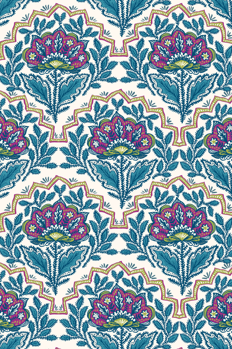 West Indies Peacock Fabric