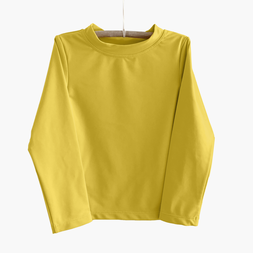 long sleeve sun shirt - lemon