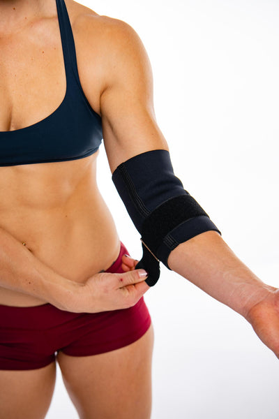 tightening contoured elbow support