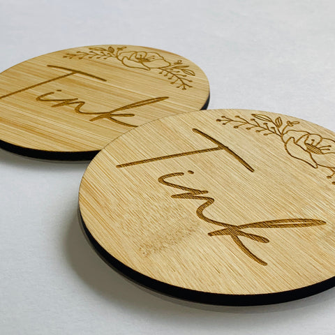 Custom laser cut wooden Coasters