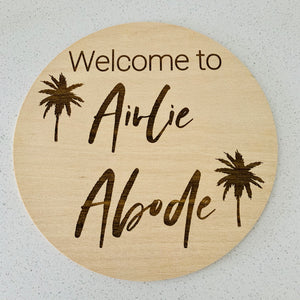 Custom engraved business sign