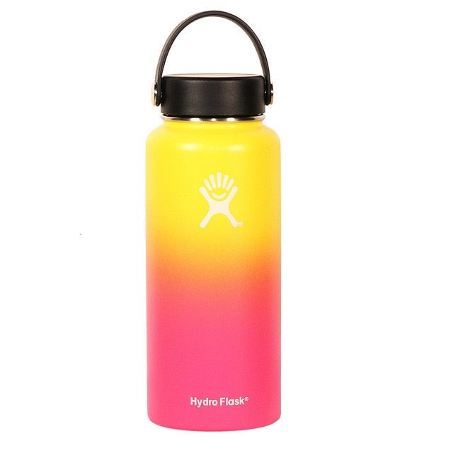 Hydro Flask 18oz 32oz Tumbler Flask Vacuum Insulated Flask Stainless Steel Water Bottle Wide Mouth Outdoors Sports Bottle