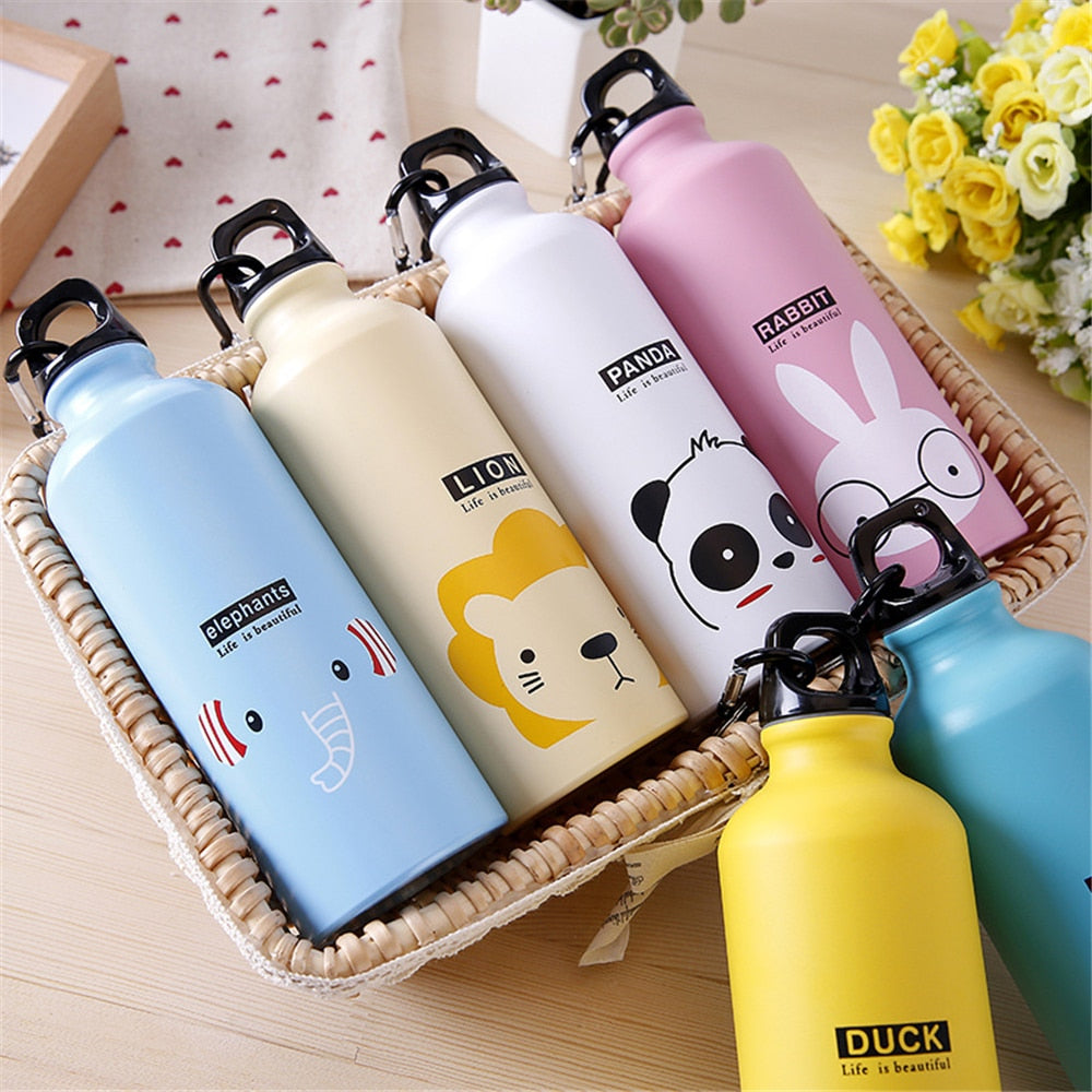 Water Bottle With Cute Animal Print