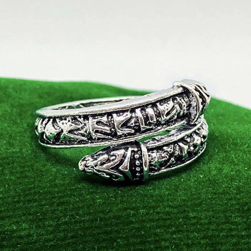 Lynx & Wood Jewelry Snake of Midgard, Steel – Ring
