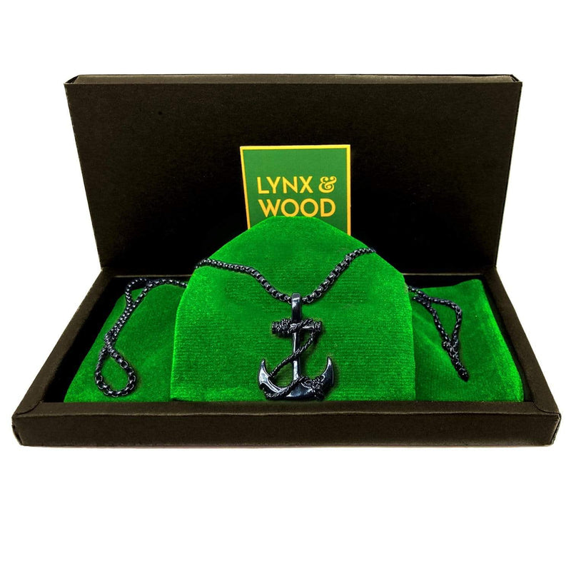 Lynx & Wood Jewelry The Bearded Anchor – Knight black – Necklace