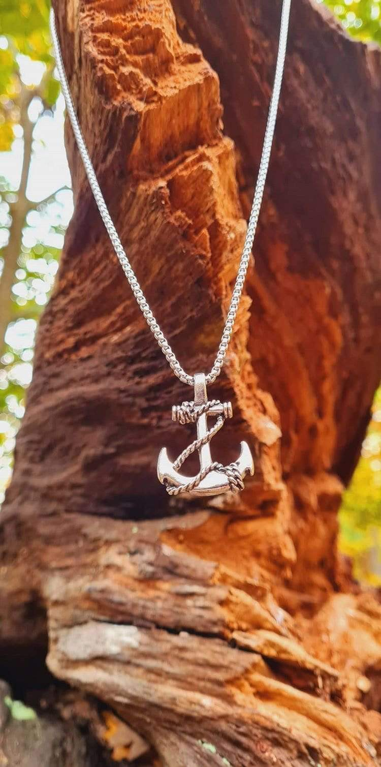 Lynx & Wood Jewelry The Bearded Anchor – Sweet steel – Necklace