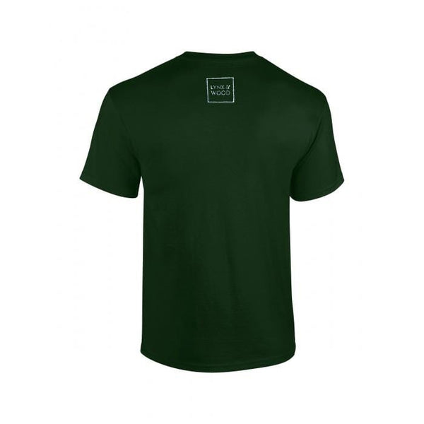 Lynx & Wood T-shirt Stamped by Viking  – Midgard Green