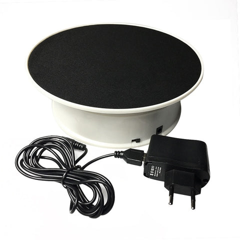 20cm 360 Degree Electric Rotating Turntable Display Stand for Photography