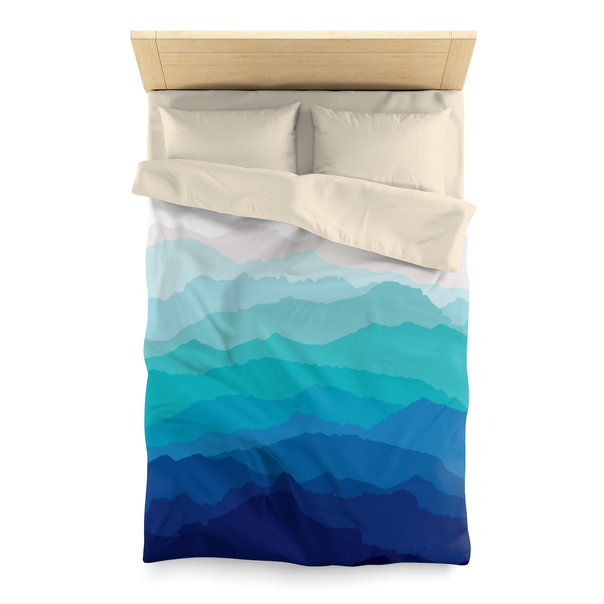 Blue Mist Mountain Duvet Cover