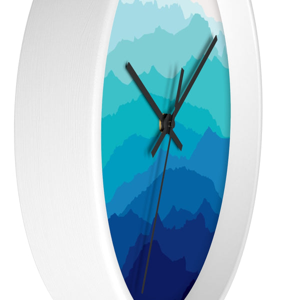 Blue Mist Mountain Wall Clock