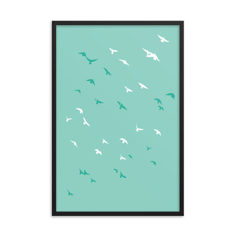 Soaring Birds Print (framed)