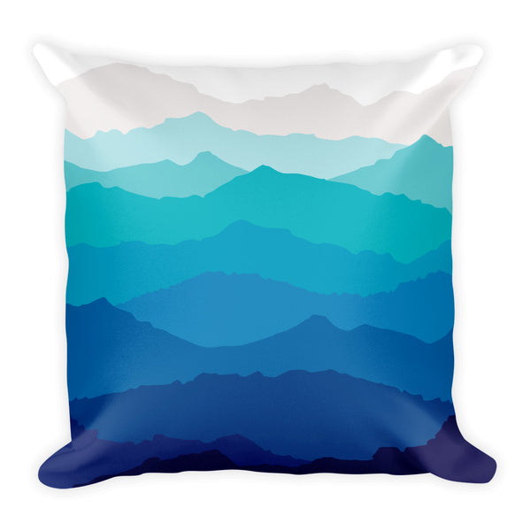 Blue Mist Mountain Pillow