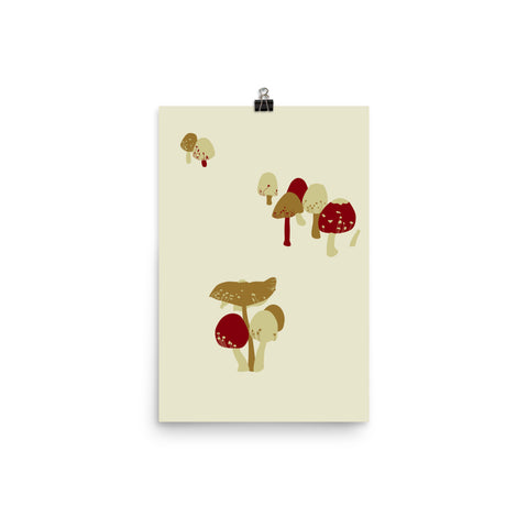 Merry Mushrooms Print (unframed)
