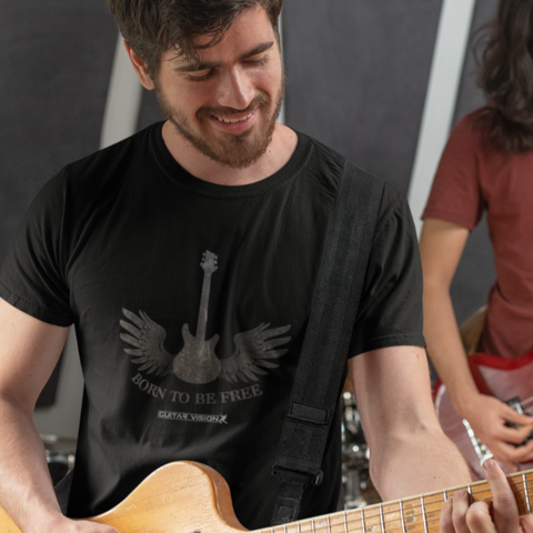 Born To Be Free - Shirt - GUITAR VISION