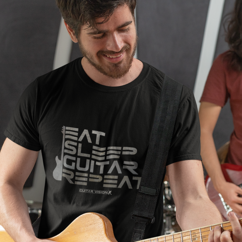 Eat, Sleep, Guitar, Repeat - Shirt - GUITAR VISION
