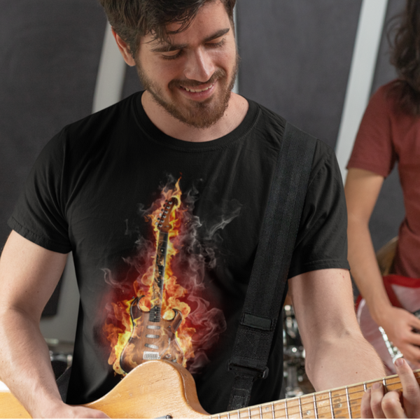 Guitar On Fire - Shirt - GUITAR VISION