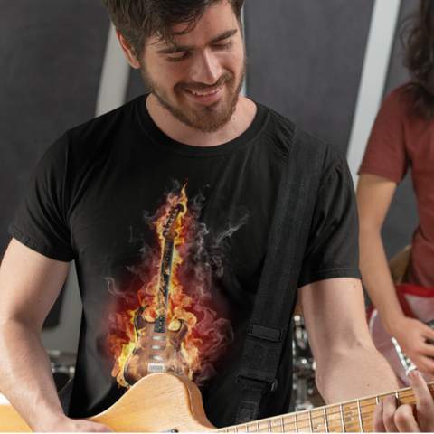 Guitar On Fire - Shirt