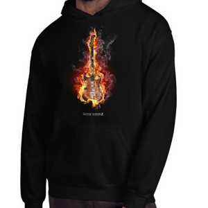 Guitar On Fire - Hoodie - GUITAR VISION