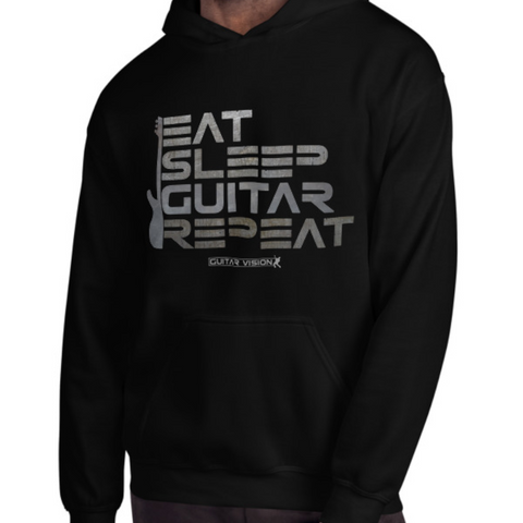 Eat, Sleep, Guitar, Repeat - Hoodie - GUITAR VISION