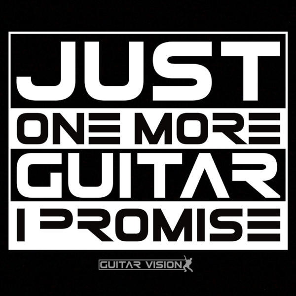 Just One More Guitar, I Promise - Hoodie - GUITAR VISION