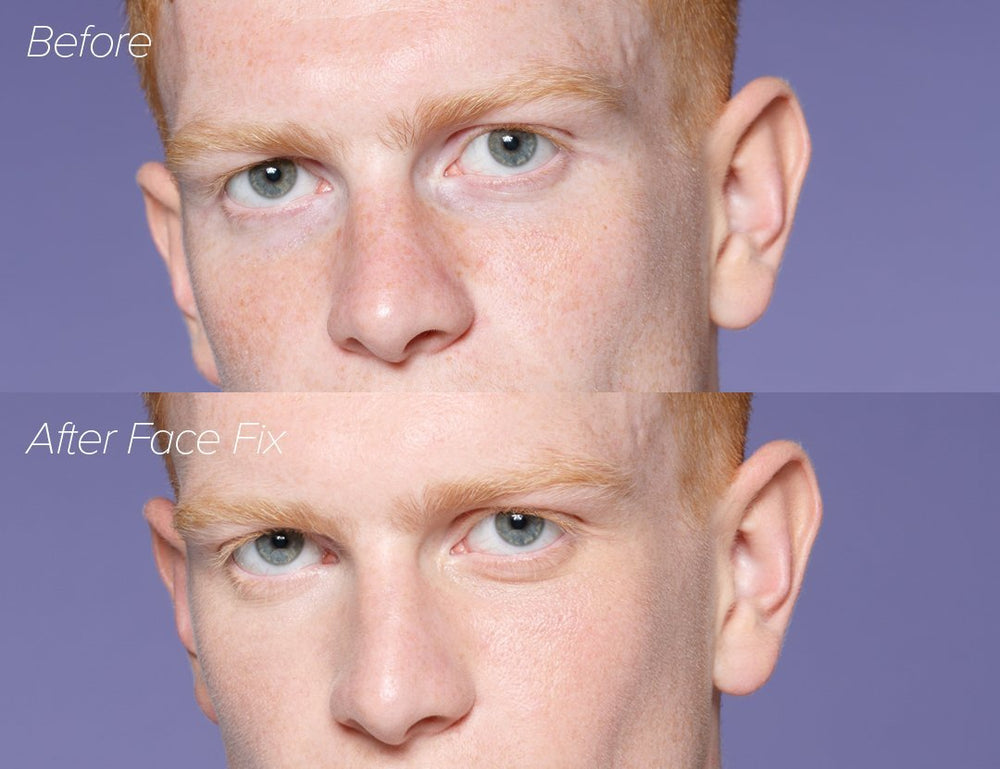 Mens makeup before and after
