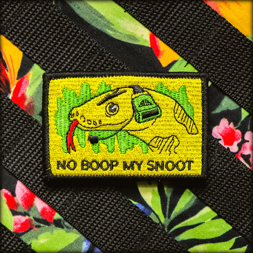 No Boop My Snoot Gadsden Flag Patch