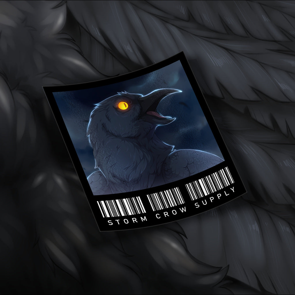 Night-Time Crow Sticker
