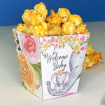 "3"" Welcome Baby Elephant Popcorn Box"