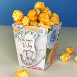 "3"" Welcome Baby Elephant Popcorn Box - Blue"