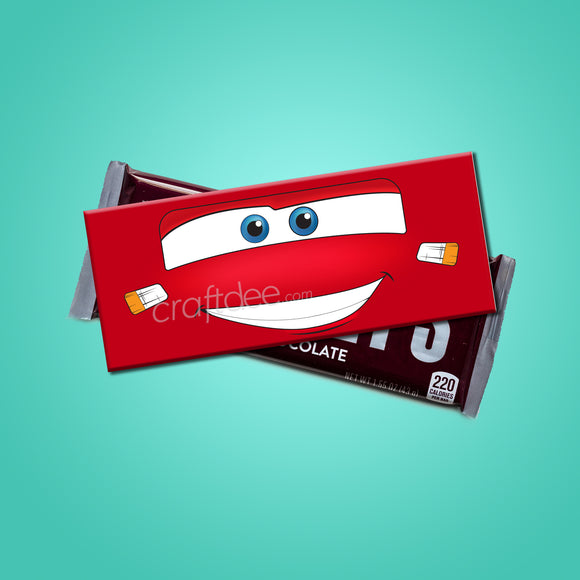 Lightning McQueen Candy Bar Wrapper