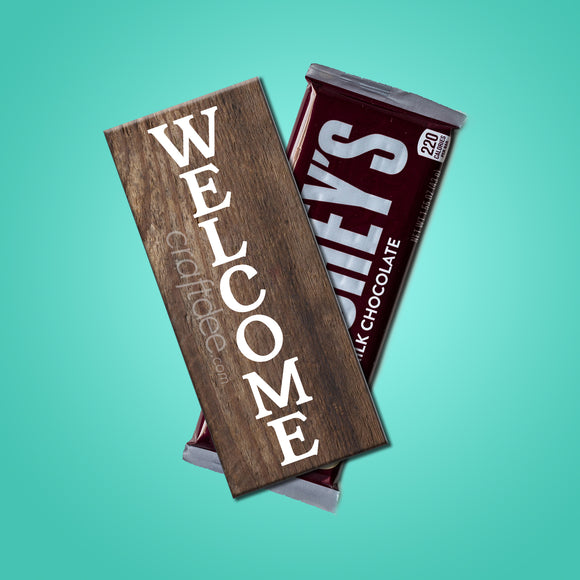 Welcome Candy Bar Wrapper