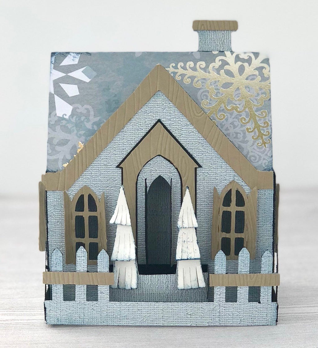 Snow Flake House Holiday Card