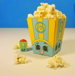 "3"" Poppy Corn Blue Shopkins Popcorn Box"