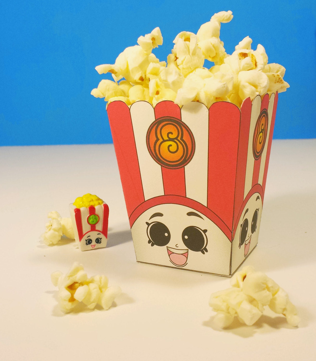 "5"" Poppy Corn Popcorn Box - Shopkins Birthday Party"