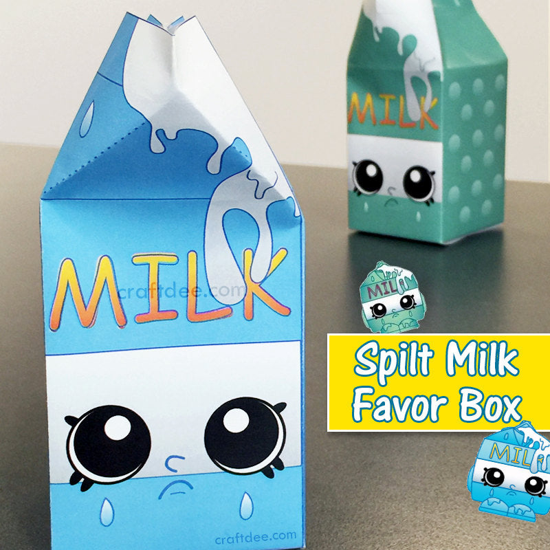 "5"" Shopkins Spilt Milk Favor Boxes"