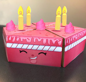 Pink Wishes Cake Boxes - Shopkins Birthday Party
