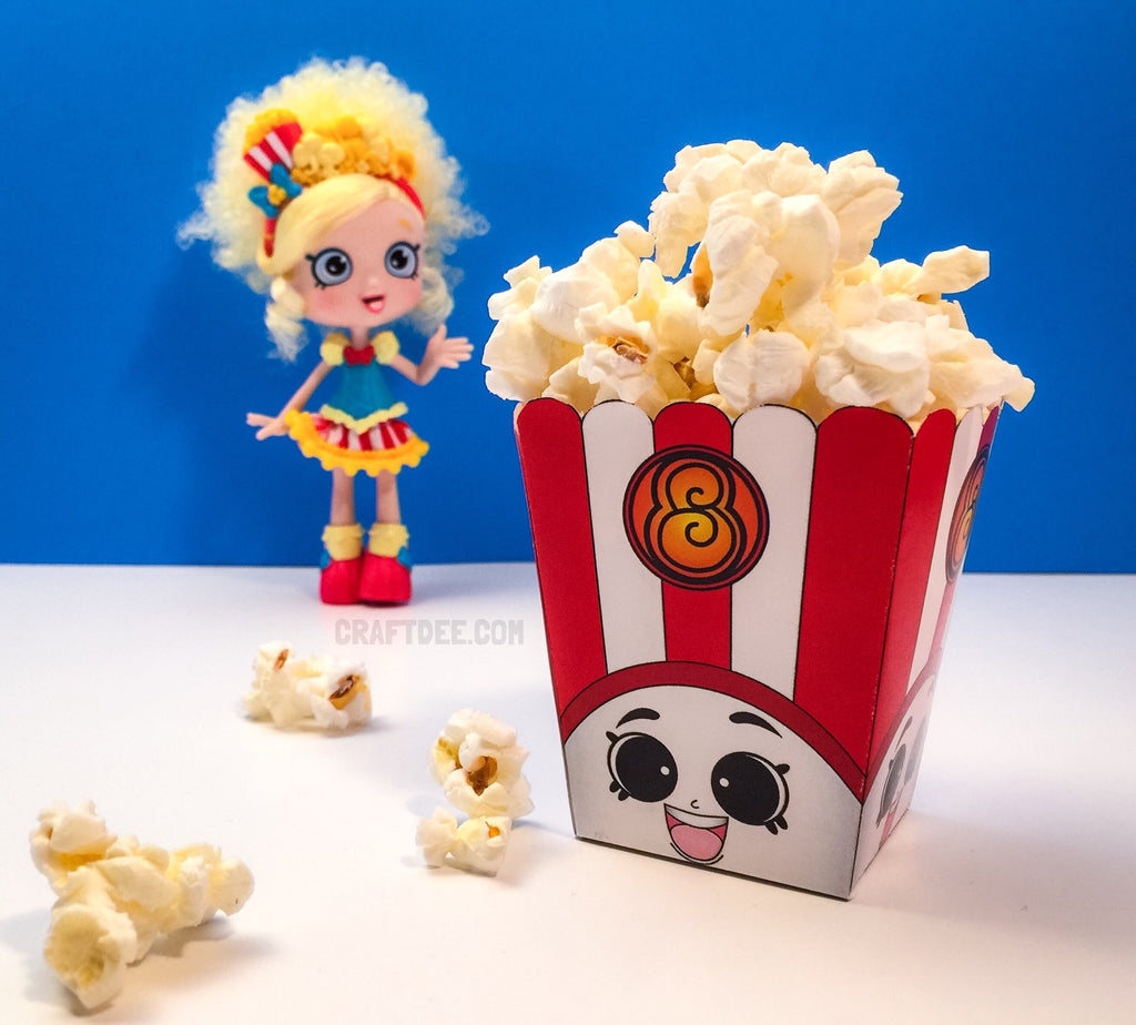 "3"" Poppy Corn Popcorn Box - Shopkins Birthday Party"