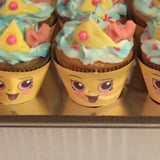 "1 1/2"" Cupcake Queen Cupcake Wrapper - Shopkins Birthday Party"