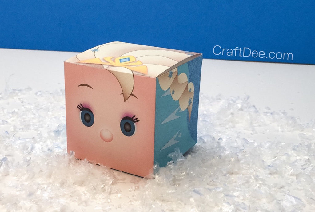 Elsa Tsum Tsum Inspired Favor Candy Box - Frozen Birthday Party