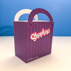 "6.75"" Shopkins Shopping Bag in Purple"