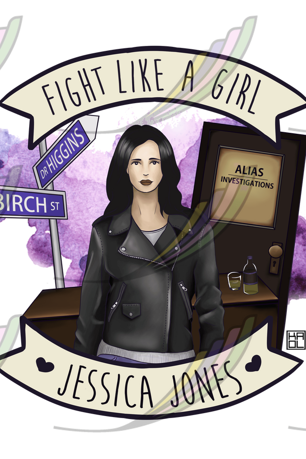 Caneca Fight Like a Girl® - Jessica Jones