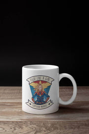 Caneca Fight Like a Girl® - Captain Marvel
