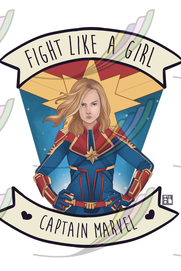 Ecobag Fight Like a Girl® - Captain Marvel