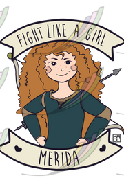 Caneca Fight Like a Girl® - Merida