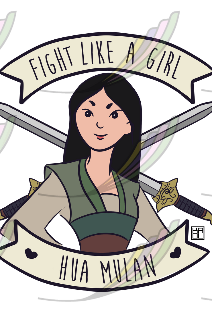 Ecobag Fight Like a Girl® - Mulan