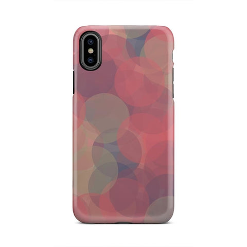 Blue White Tan Floating Bubble Lens iPhone X Case
