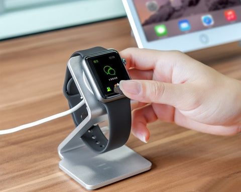 Metal Stand Station Dock Charger Holder for Apple